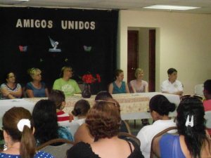 Panel of volunteers from Friends United